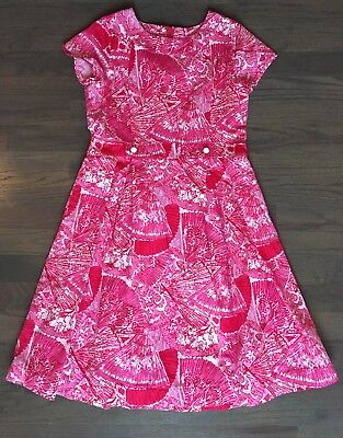 Hot Girls In Dresses (Lilly Pulitzer Pink Its Getting Hot In Here Fan Print Girls Dress)