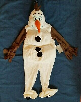 Olaf Costume Boys (Disney Frozen Olaf Snowman Child's Costume Size 4 New Authentic Boy or)