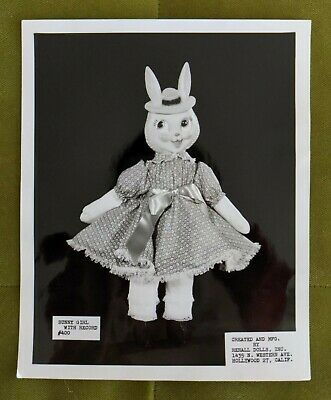 Vintage Plastic Face - Stuffed Doll RARE Promo Photograph Hollywood California
