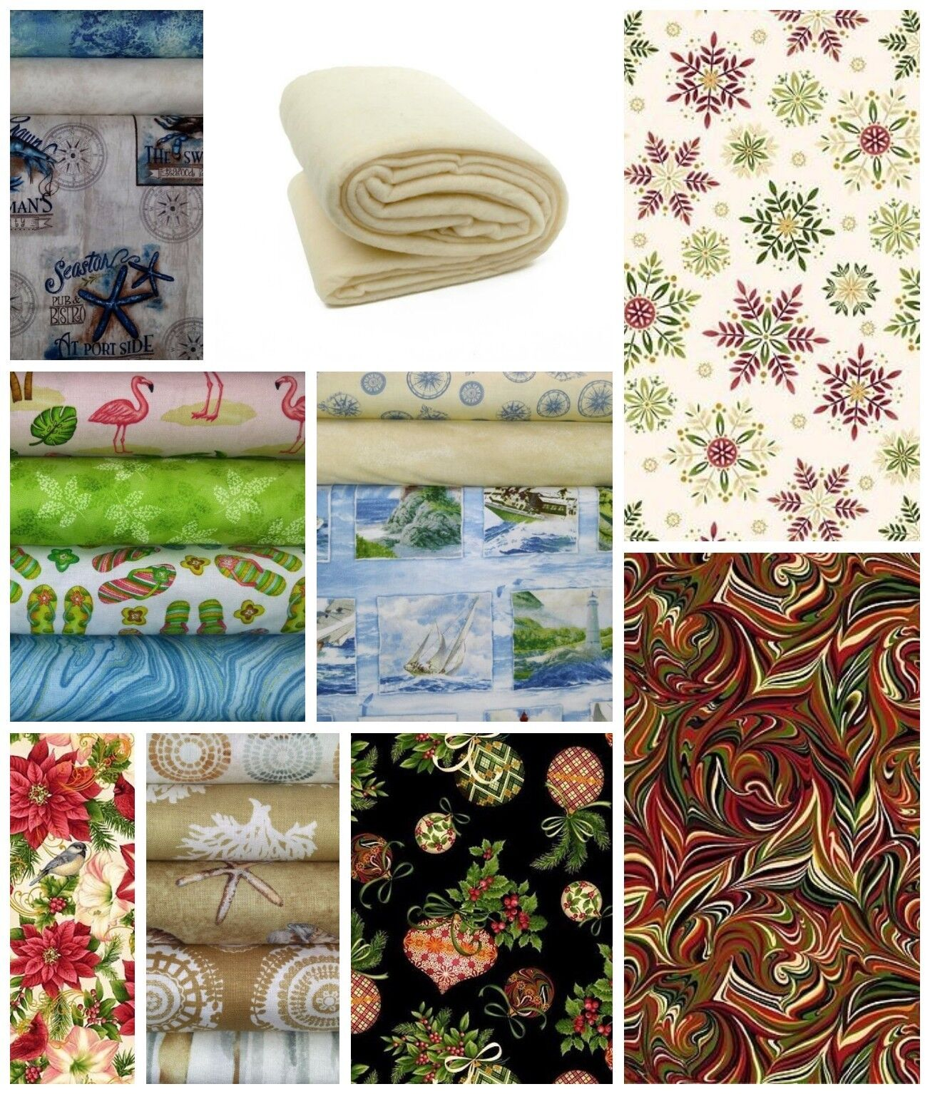 Quilt Batting and Fabric Supplies