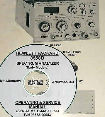 Hp 8558b Ops Service Manual Early Serial S