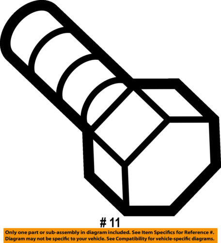 #11 on diagram only-genuine oe factory original item
