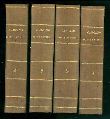 CARCANO GIULIO RACCOLTA POETI SATIRICI ITALIANI BIBLIOTECA COMUNI ITALIANI 1853