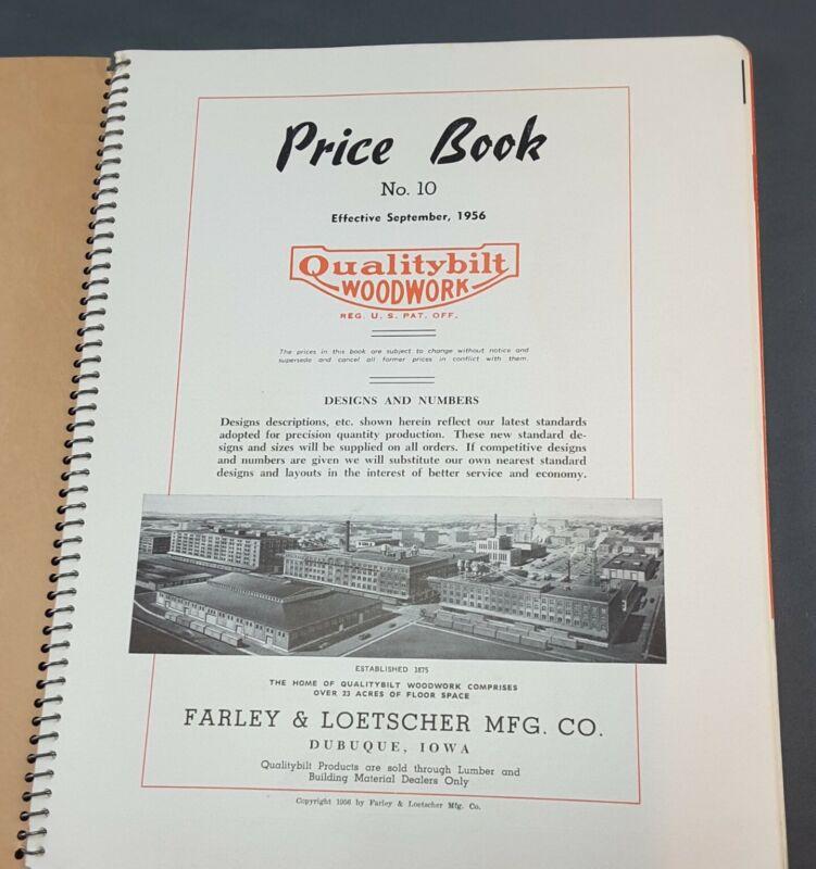 MILLWORK CATALOG price book FARLEY & LOETSCHER 1956 Dubuque IA Qualitybilt Wood