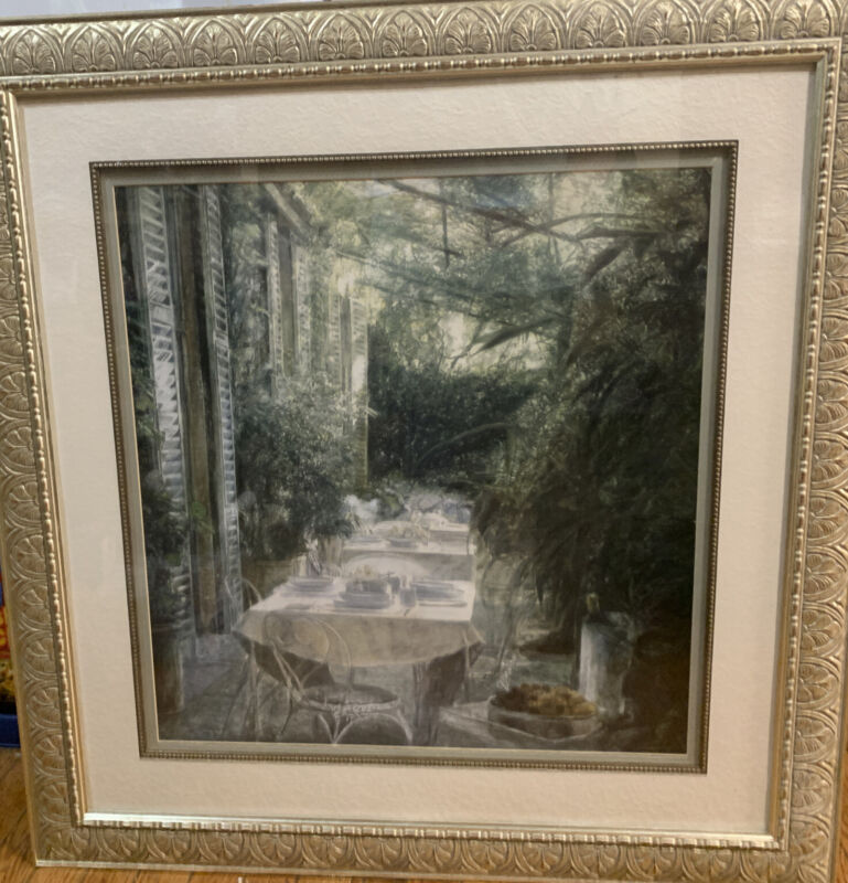 Luncheon With the Princess of Spring Picture Piet Bekaraert Framed Matted 33x34