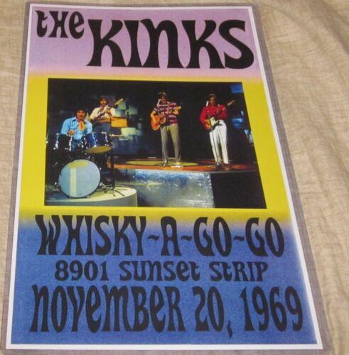 THE KINKS 1969 WHISKY-A-GO-GO REPLICA CONCERT POSTER