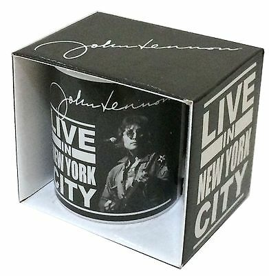 John Lennon Live In New York City NYC Coffee Mug Cup New Official Merch 2010 NOS