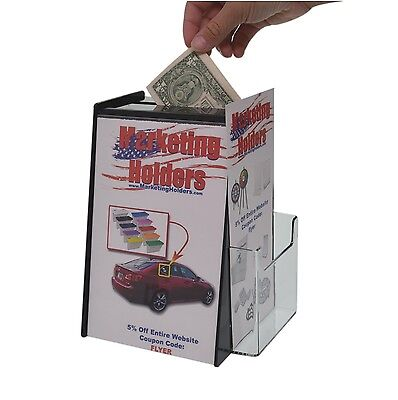 Ballot Box W Sign Display For 5.5 X 8.5 Literature And Brochure Holder