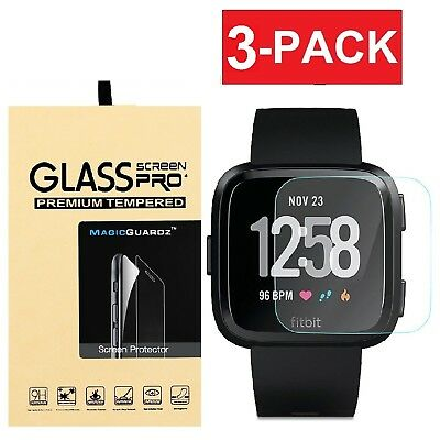 3-Pack MagicGuardz� For Fitbit Versa Tempered Glass Screen Protector Saver