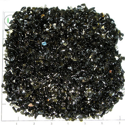 Volcanic Glass - OBSIDIAN BLACK 4-10mm tumbled, 1/2 lb bulk xmini stones volcanic glass unsorted