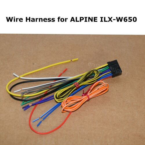 New Wire Harness for ALPINE ILX-W650 ILXW650 FREE FAST SHIPPING