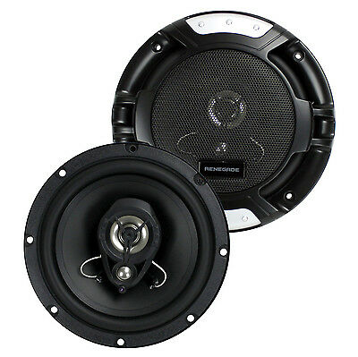 "Renegade RX62 6.5"" 200 Watt 3-Way 4-ohm Car Audio Coaxial Speakers Stereo (Pair)"