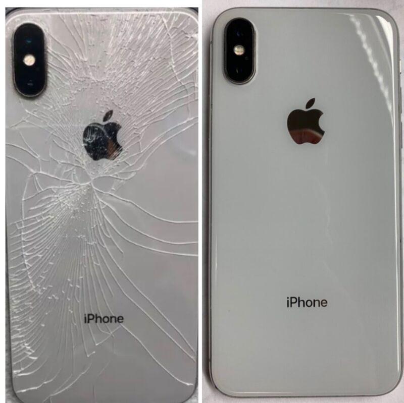 Iphone 8/8plus/x/xs/xr/xs Max Cracked Broken Back Glass Repair Service