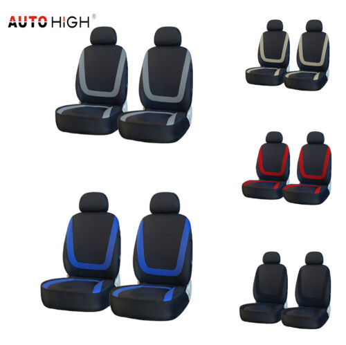 4pcs Auto Seat Cover Front Headrests Washable Car Accessories for Truck SUV Van