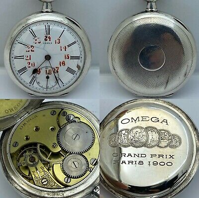 Omega Grand Prix Paris 1900 Pocket Watch 49mm
