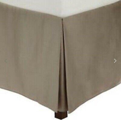 Calvin Klein Small Diamond King Size Tailored Bedskirt Bed Skirt Caraway