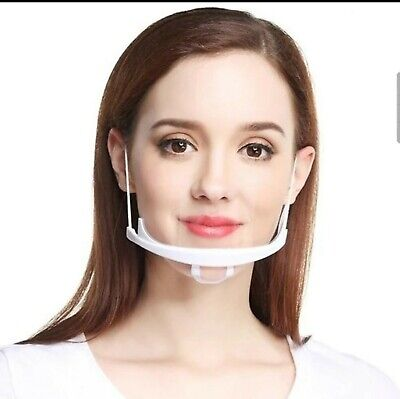 10 Pcs Mouth Guard Spit Shield Masks 5pcs Restaurant Catering Transparent Mask