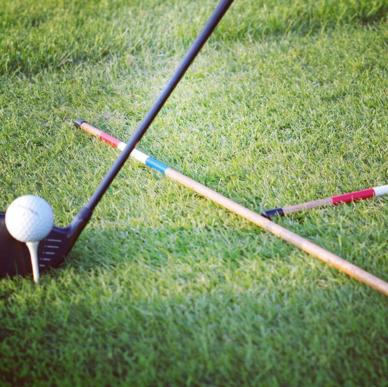 Hickory golf alignment sticks - John Daly Jr
