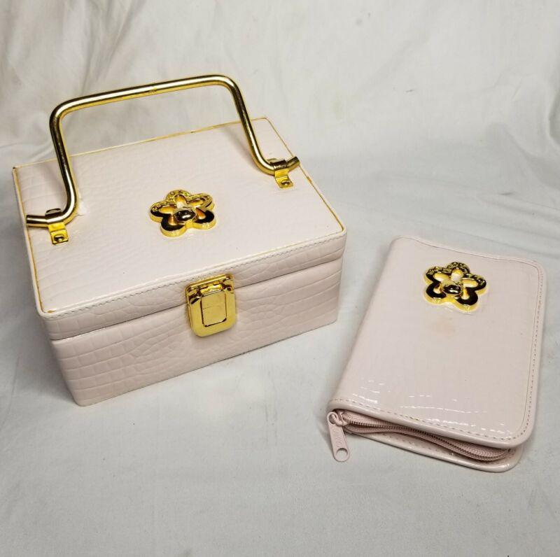 1997 SANRIO Hello Kitty Pink Jewelry Box & Notebook