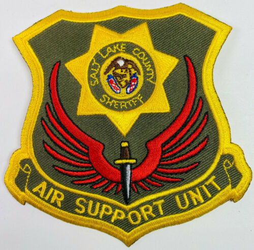 Salt Lake County Sheriff Air Support Unit Helicopter Utah UT Patch