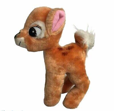 "Vtg Bambi Disney 7"" Baby Fawn Deer Plush Stuffed Soft Toy Nursery Decor Korea"