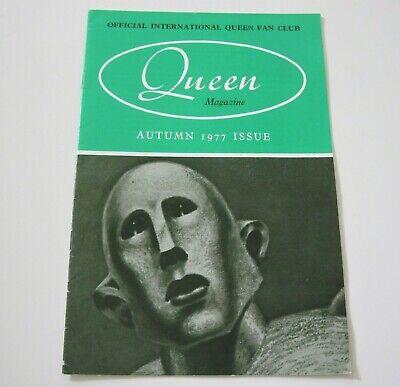 QUEEN Official International Queen Fan Club Magazine Autumn 1977 Issue