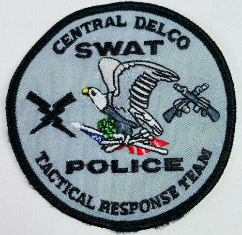 Central Delco SWAT Police Delaware County Pennsylvania PA Hook & Loop Patch (A2)