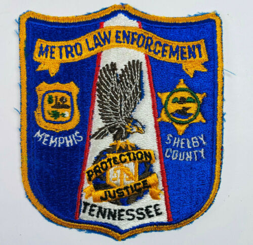 Metro Law Enforcement Memphis Shelby County Police Sheriff Tennessee Patch (A2)