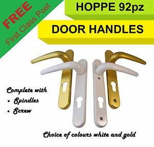 Double glazed door handle springs