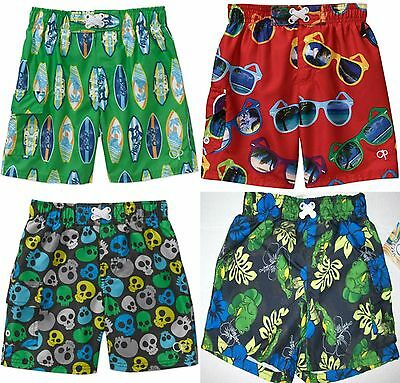 Op Baby Boys Swim Trunks Skulls Surfboards Frogs Red Sunglasses  6-9 18 24 Month