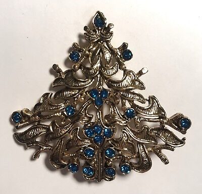Vintage Signed Eisenberg Ice Christmas Tree Pin Christmas Tree Ice
