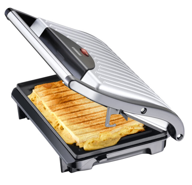 Exido 16240053 Panini Maker Pannini Toaster Grill Sandwichtoaster Kontaktgrill