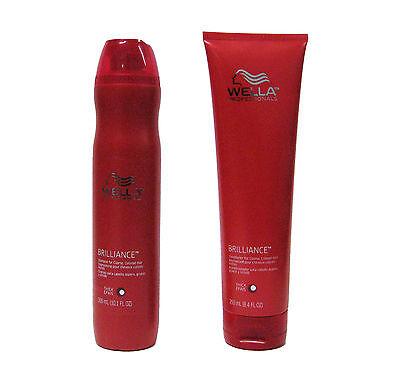 Wella Brilliance Shampoo and Conditioner for Thick Coarse Colored Hair 10/8 oz