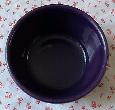 "Vintage Workshops of Gerald HENN Pottery Purple Jewelware Butter Crock 5"" - EUC"