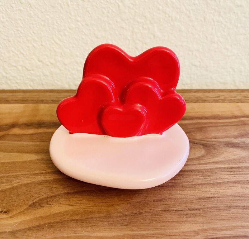 Rae Dunn Valentines Pink Heart topper