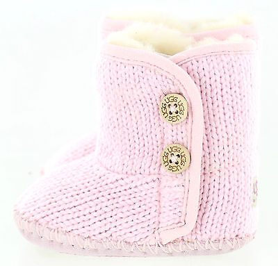 UGG Infant Purl Lined Boot Baby Pink S Small Size 2/3 6 - 12 Months