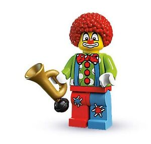 NEW! LEGO Series 1 CIRCUS CLOWN MiniFigure 8683 Collectible  Minfig w Stand RARE