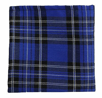 New Men's Polyester Pocket Square Hankie Only plaid Royal Blue