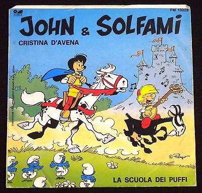 45 tours PEYO 1983  Johan et Pirlouit/John et Solfami générique