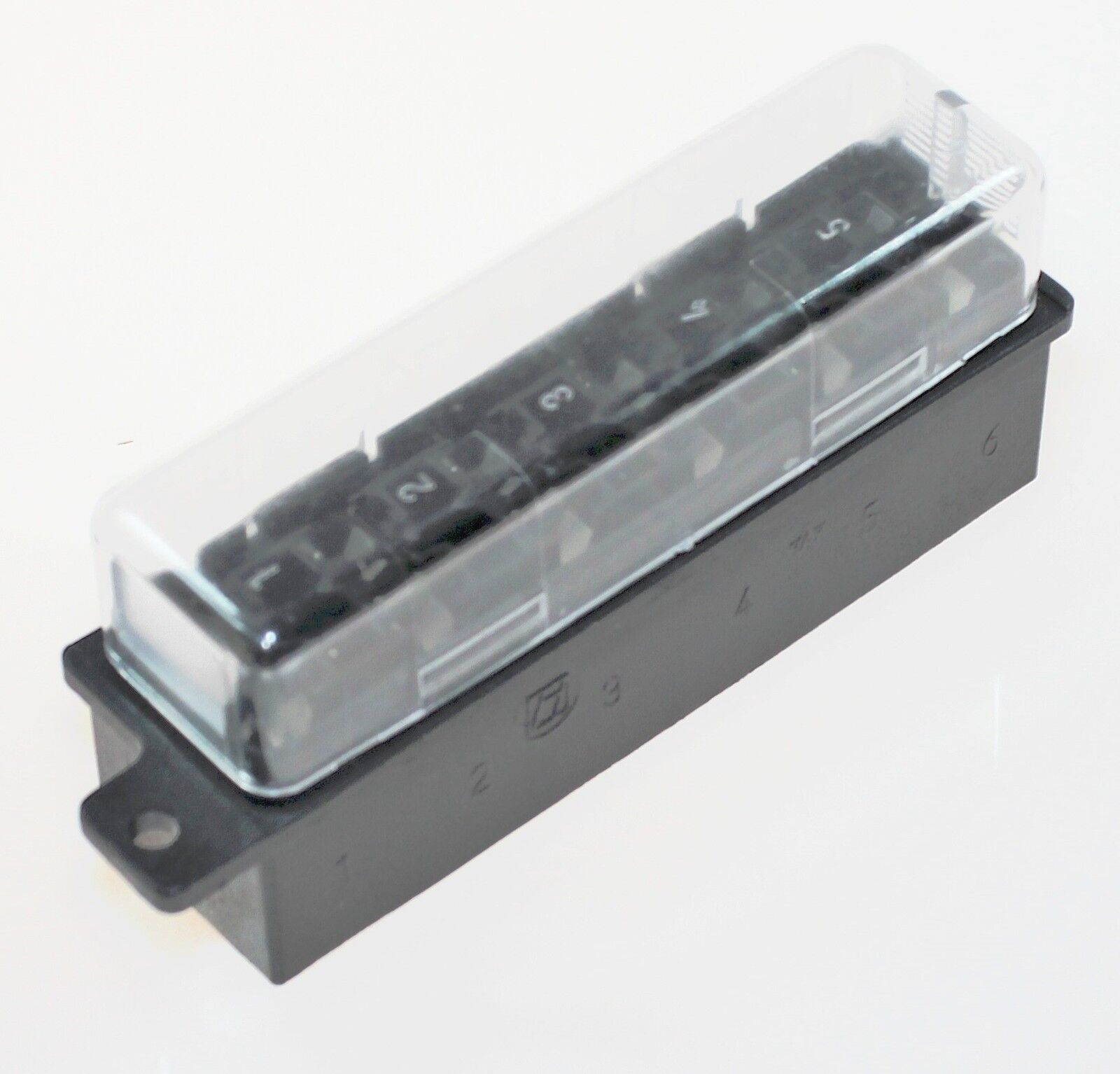 Sicherungsdose Sicherungskasten KFZ 6 polig schwarz mit Flachsteckanschluss und
