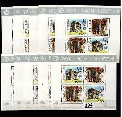 /// 10X PORTUGAL - MNH - EUROPA CEPT 1978 - ARCHITECTURE - WHOLESALE