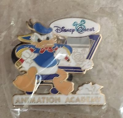 Very Rare And OOP New Disney Quest Animation Academy Donald Duck Pin