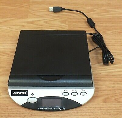 Genuine Dymo 40158 10lbs Capacity Small Mail Scale With Usb Cord Read