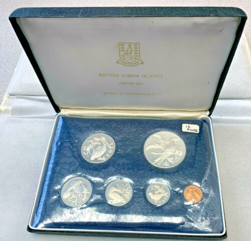 1974 British Virgin Islands Proof Set w/ box & COA