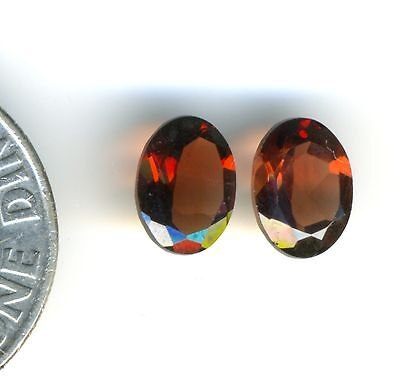 RED GARNET 5x7mm Faceted Oval Gemstone One Pair