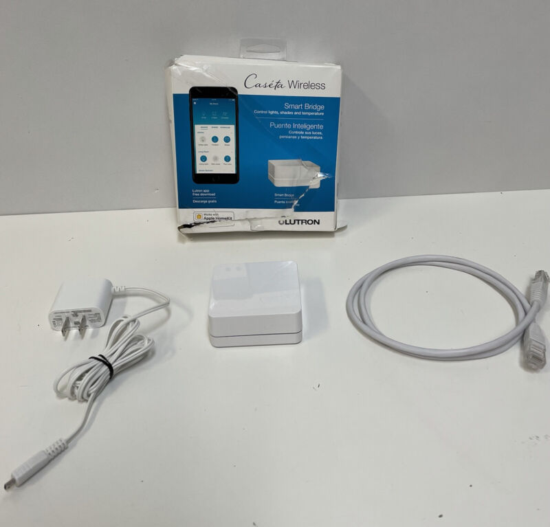 Lutron Caseta Smart Bridge Hub L-BDG2-WH Apple HomeKit/Amazon Alexa/Google