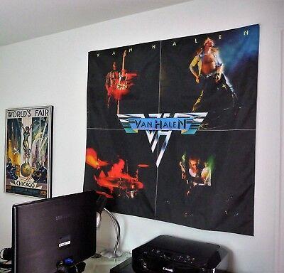 VAN HALEN First album HUGE 4X4 BANNER poster tapestry cd album wall decor