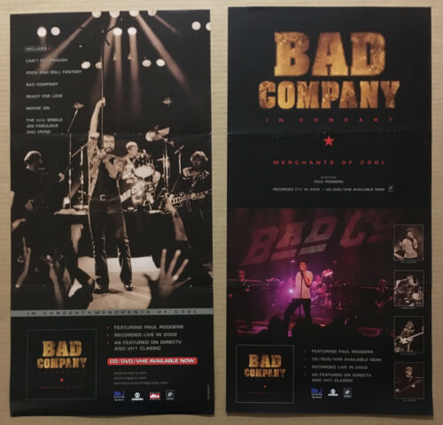 Paul Rodgers BAD COMPANY Rare DOUBLE SIDED PROMO POSTER of 2002 CD NEVER DISPLAY