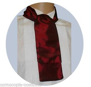 BURGUNDY  CRAVAT  VICTORIAN / EDWARDIAN / GEORGIAN  / COSTUME / FANCY DRESS