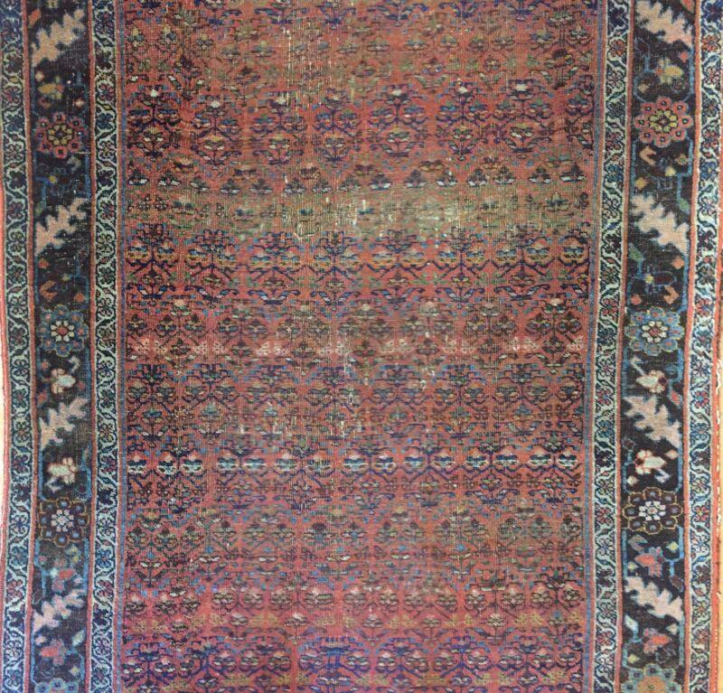 Beautiful Bijar - 1880s Antique Kurdish Runner - Persian Rug - 4.6 X 11 Ft.